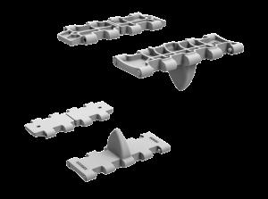 3D renders 35216 T-34 WAFER-TYPE HALVED WORKABLE TRACK LINKS SET