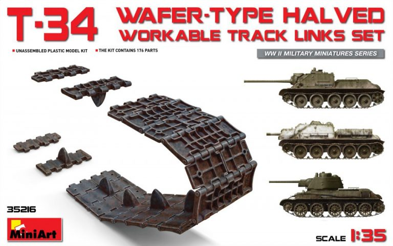 35216 T-34 WAFER-TYPE HALVED WORKABLE TRACK LINKS SET