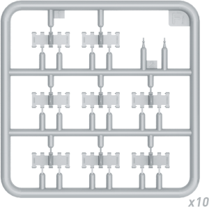 Content box 35216 T-34 WAFER-TYPE HALVED WORKABLE TRACK LINKS SET