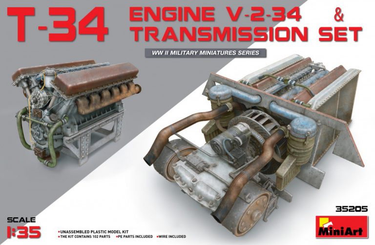 35205 T-34 Engine V-2-34 & TRANSMISSION SET