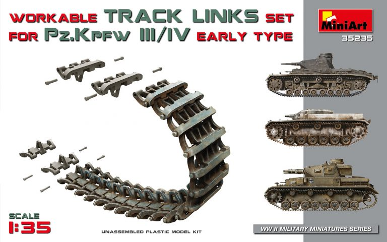 35235 WORKABLE TRACK LINKS SET FOR Pz.III / Pz.IV EARLY TYPE