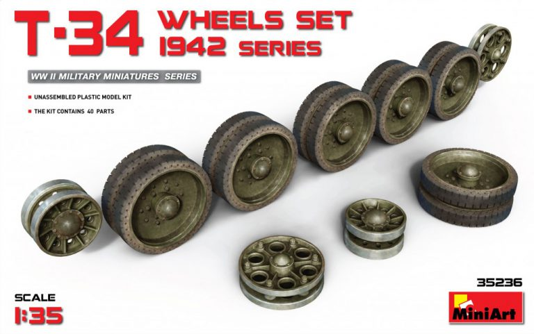 35236 T-34 WHEELS SET. 1942 series