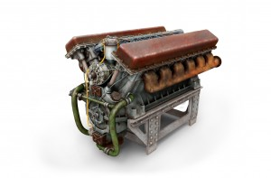 3D renders 35205 T-34 Motor V-2-34 & GETRIEBE SET