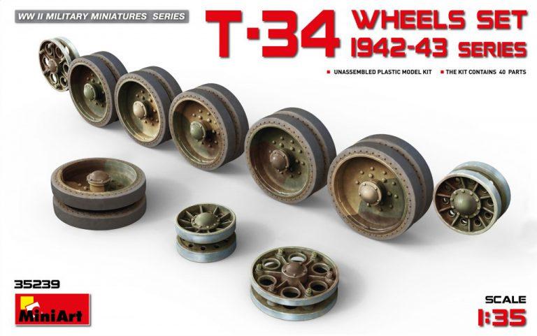 35239 T-34 Räder gesetzt. Serie 1942-43