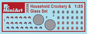 Content box 35559 HOUSEHOLD CROCKERY & GLASS SET