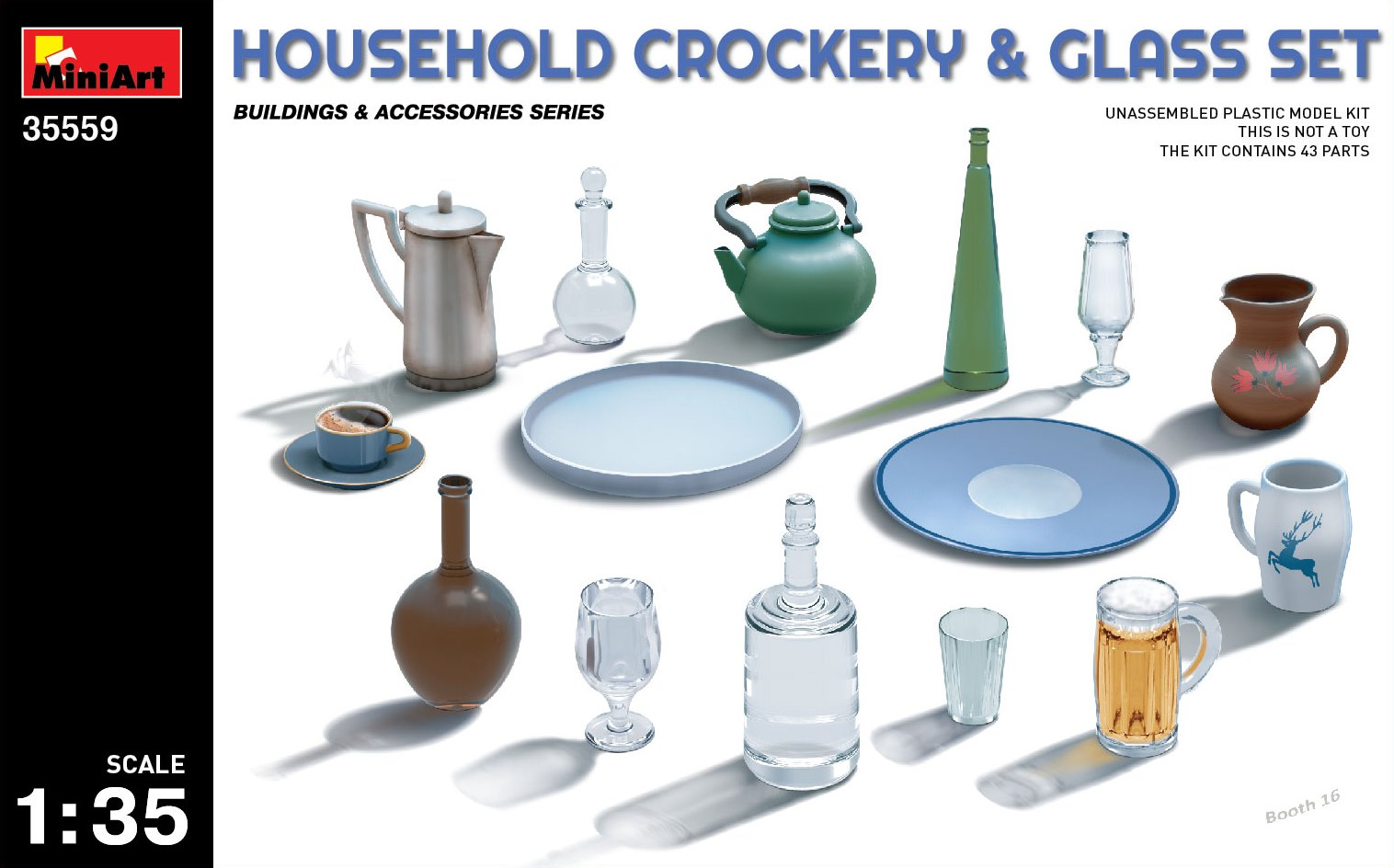 HOUSEHOLD CROCKERY & GLASS SET