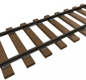 3D renders 35565 RAILROAD TRACK. RUSSIAN GAUGE