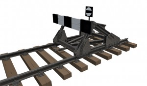 3D renders 35568 RAILWAY TRACK w/ DEAD END. EUROPEAN GAUGE