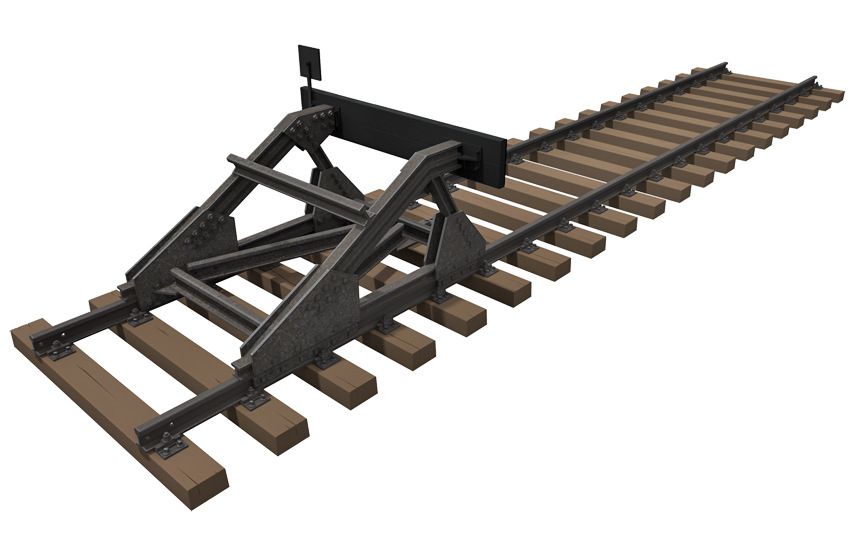 Miniart – 35568 RAILWAY TRACK w/ DEAD END  EUROPEAN GAUGE