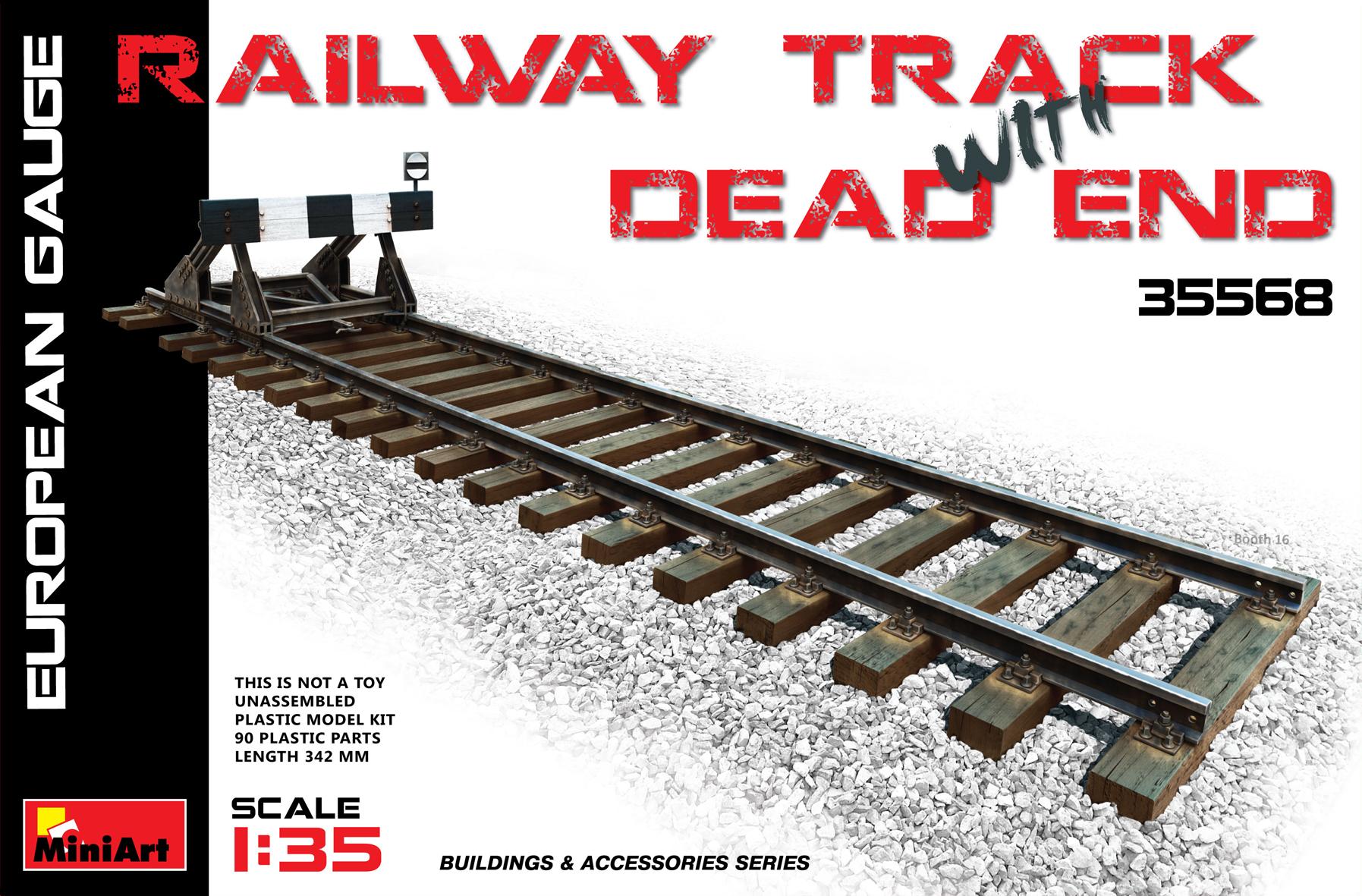 RAILWAY TRACK w/ DEAD END. EUROPEAN GAUGE
