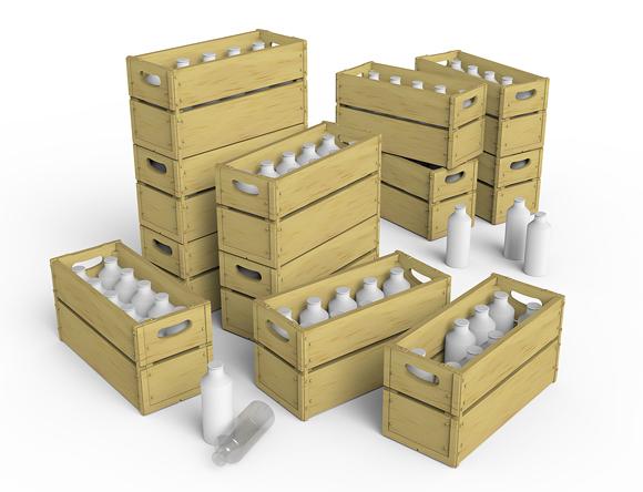 35573 牛奶瓶&木箱