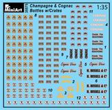 Content box 35575 CHAMPAGNE & COGNAC BOTTLES w/CRATES