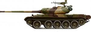 Side views 37003 T-54-1 苏联中型坦克(内构)
