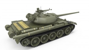 3D renders 37003 T-54-1 SOVIET MEDIUM TANK. INTERIOR KIT
