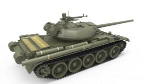 3D renders 37003 T-54-1 SOVIET MEDIUM TANK. INTERIOR KIT