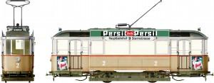 Side views 38009   ヨーロッパ路面電車<路面ベース付>付属フィギュア関連