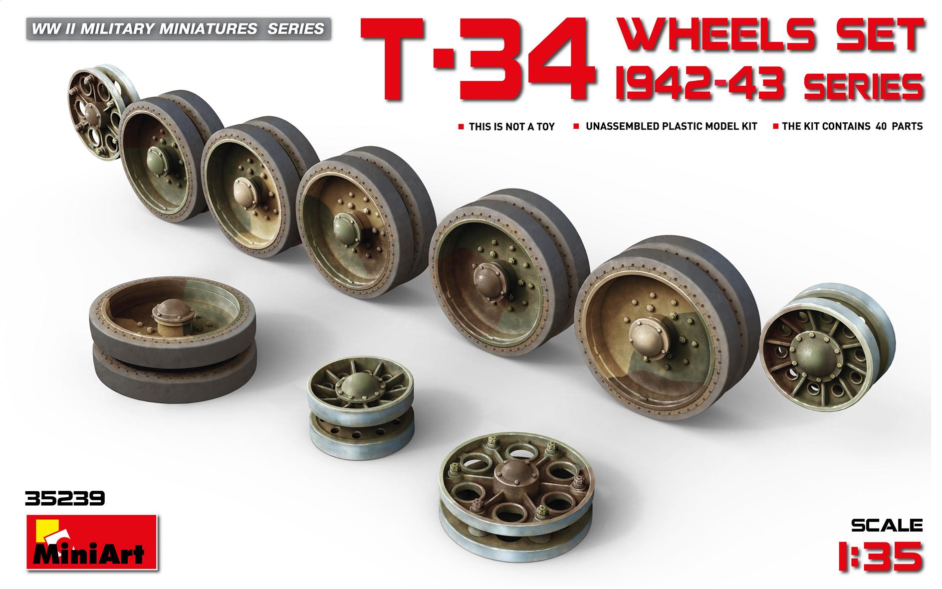 35239 T-34 WHEELS SET. 1942-43 series