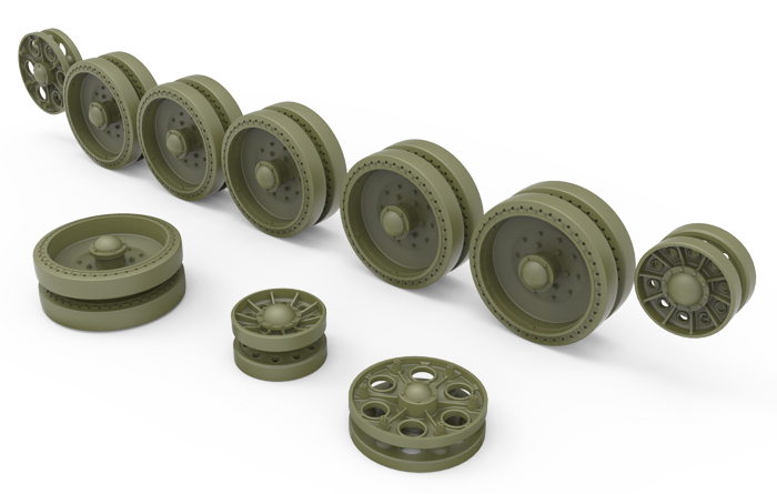 35239 T-34 WHEELS SET. 1942-43 series