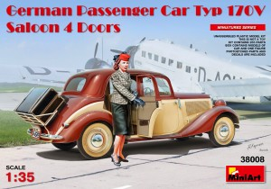 38008 GERMAN PASSENGER CAR TYP 170V SALOON 4 DOORS