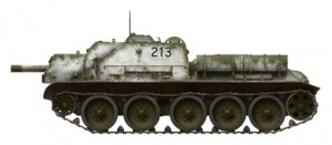 Side views 35197 SU-122 MID PRODUCTION. INTERIOR KIT