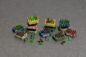 Photos 35574 BEER BOTTLES & WOODEN CRATES