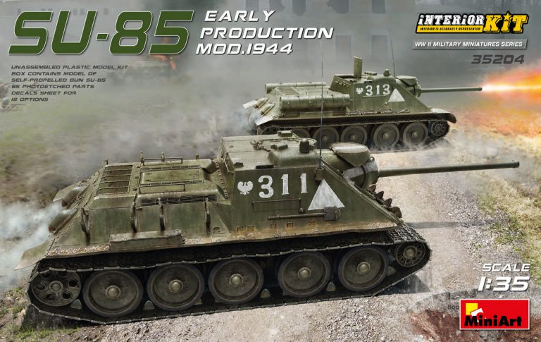 SU-85 SOVIET SELF-PROPELLED GUN Mod. 1944 EARLY PRODUCTION. INTERIOR KIT