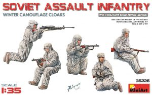 miniart 35226 SOVIET ASSAULT INFANTRY (WINTER CAMOUFLAGE CLOAKS)