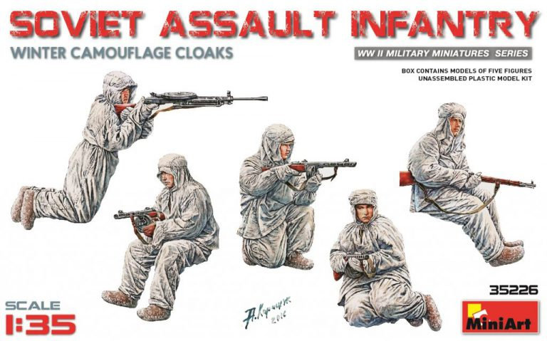 SOVIET ASSAULT INFANTRY (WINTER CAMOUFLAGE CLOAKS)