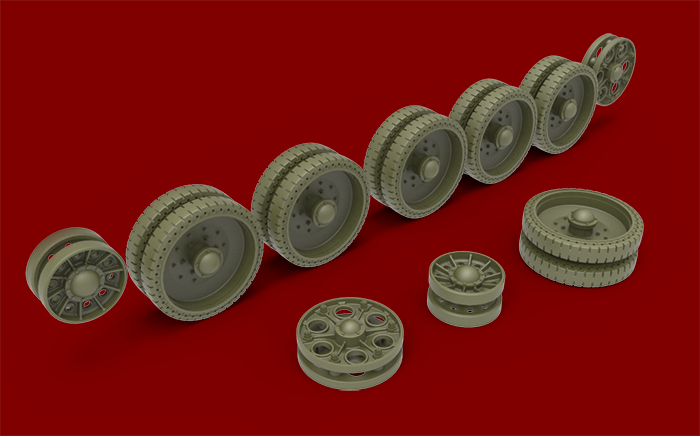 35242 T-34 WHEELS SET. 1943-44 series