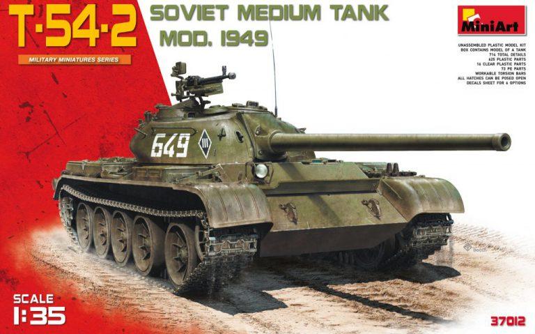 37012 T-54-2 SOWJETISCHEN MITTELTANK. Mod 1949