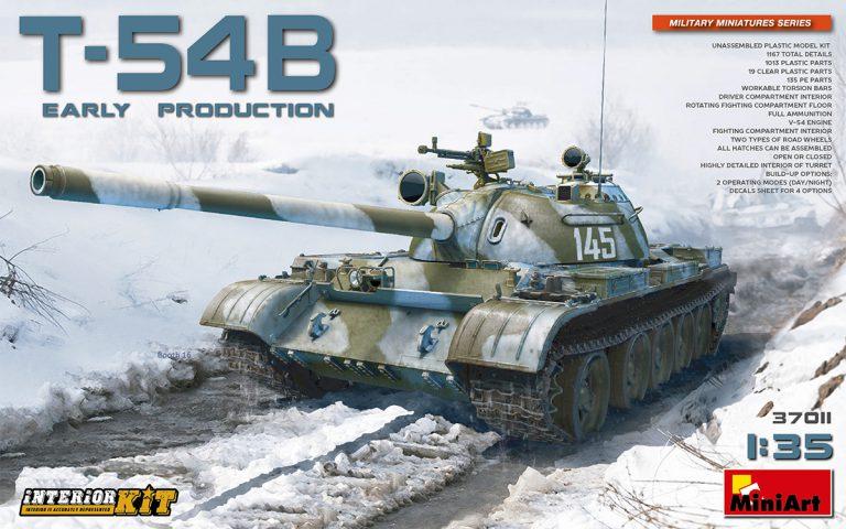 37011 Т-54Б СОВЕТСКИЙ СРЕДНИЙ ТАНК. РАННЕГО ВЫПУСКА. НАБОР С ИНТЕРЬЕРОМ