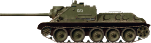 Side views 35204 SU-85 SOVIET SELF-PROPELLED GUN Mod. 1944 EARLY PRODUCTION. INTERIOR KIT