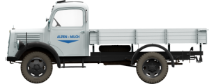 Side views 38014 GERMAN CARGO TRUCK  L1500S