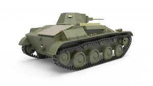 3D renders 35215 T-60 EARLY SERIES. SOVIET LIGHT TANK. INTERIOR KIT