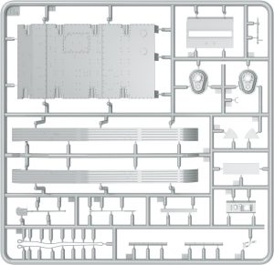 Content box 35215 T-60 EARLY SERIES. SOVIET LIGHT TANK. INTERIOR KIT