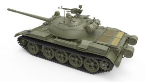 3D renders 37019 T-54B EARLY PRODUCTION