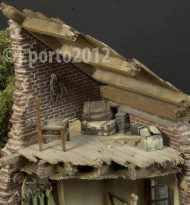 36021 DIORAMA w/NORMANDY HOUSE