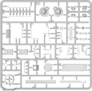Content box 37007 T-54-3 SOVIET MEDIUM TANK. Mod 1951.  INTERIOR KIT