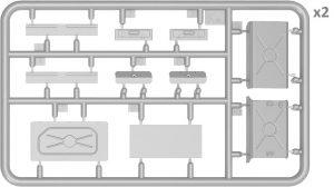 Content box 37007 T-54-3 SOWJETISCHEN MITTELTANK Mod. 1951 INNENRAUM KIT