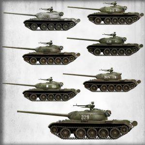 Side views 37015 T-54-3 SOVIET MEDIUM TANK. Mod. 1951