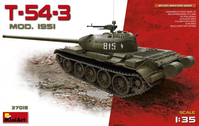 37015 T-54-3 Sowjetischer Medium Panzer Modell 1951