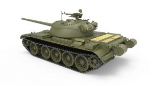 3D renders 37015 T-54-3 SOVIET MEDIUM TANK. Mod 1951