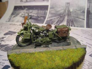 35080 U.S. WW II Motorcycle WLA + Kold