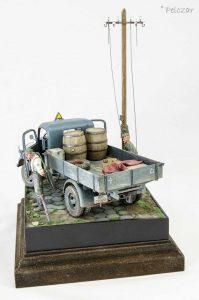 35142 MB 1500S GERMAN 1,5t CARGO TRUCK Pelczar Modelling Workbench