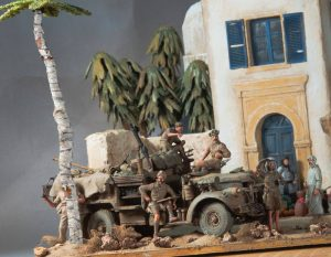 35540 NORTH AFRICAN HOUSE + 35051 BRITISH JEEP CREW + Smalcastle