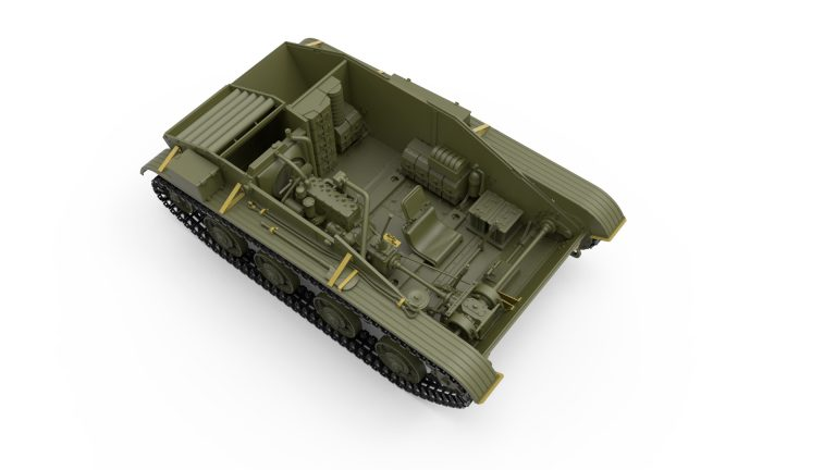 35219 T-60轻型坦克264工厂 带内构