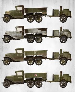 Side views 35257 SOVIET 2t TRUCK AAA TYPE w/FIELD KITCHEN