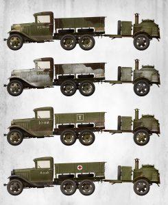 Side views 35257 苏联2吨卡车AAA型 带野战厨房