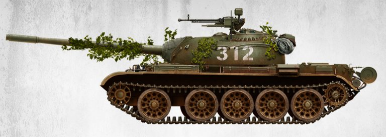 37009 T-54A с Интерьером