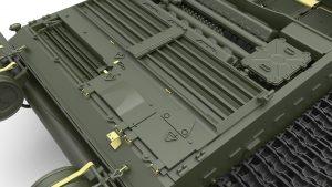 3D renders 37009 T-54A с Интерьером